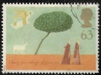 GB SG1954 1996 Christmas 63p used  FILLER